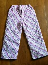 ORAGE Talent Youth Girls Ski Snowboard Pink Purple Plaid Snow Pants sz 8