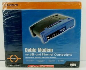 Cisco-Linksys Cable Modem MODLE #BEFCMU10 Version 3 USB & Ethernet Connections.