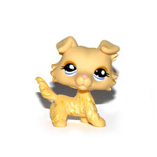 Littlest Pet Shop Animal Puppy Blue Eyes Yellow Collie Dog Figure Child Toy UK