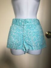 Lilly Pulitzer Blue and White Walsh Patterned Shorts Size 6