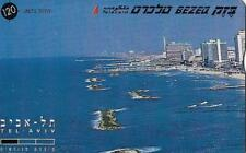 ISRAEL BEZEQ BEZEK PHONE CARD TELECARD 120 UNITS TEL-AVIV BEGINNING OF THE BEACH