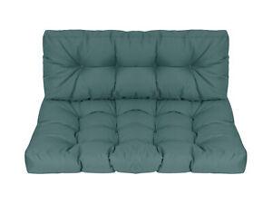 Herlag Sitzpolster Palettenmöbel blau Sitzpolster + Rückenlehne für Gartenmöbel
