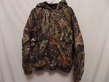 Mossy Oak Coat M Men's Camouflage Hunting Jacket Heavy Cotton Green Hooded