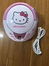 HELLO KITTY CD PLAYER FM/AM RADIO PLAYER PINK