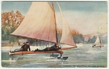 Russia, Siberia, Lake Baikal, Ice Yachting, Sport, Old Postcard