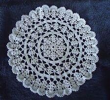 """Handmade Crochet Doily Large Berka Shell 11"""" White"""