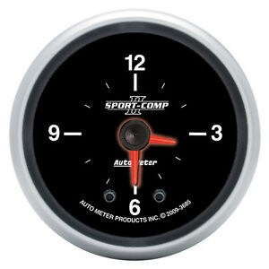 "Autometer 3685; Sport-Comp II Clock 2-1/16"" 360° Electrical"