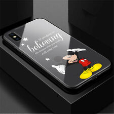 Premium Mickey Mouse Believing Quote Dark Case Cover iPhone Samsung Huawei