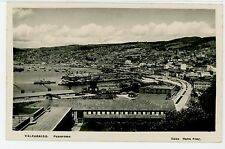 "Valparaiso Chile RPPC ""Panorama"" Photo Tarjeta 1940s"