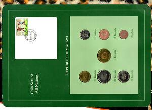 Coin Sets of All Nations Malawi 1995-1996 UNC 1 Kwacha 50,20 Tambala 96
