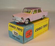 CORGI TOYS 232 FIAT 2100 Lillà/Viola in cominciarono ersatzbox #6334