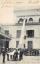 9614) ARGENTINA,BUENOS AIRES MANIOBRAS DE BOMBEROS, POMPIERI, VG NEL 1902.