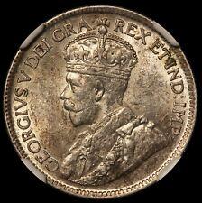1927 Canada 25 Cents Quarter Silver Coin - NGC AU 55 - KM# 24a - RARE Key Date