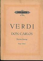 Verdi ~ DON CARLOS - Klavier-Auszug mit Text deutsch