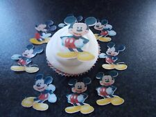 12 PRECUT Mickey Mouse Edible paper cake/cupcake toppers