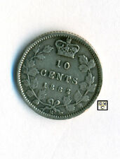 Canada 1882 H  10Cents Coin  V.F