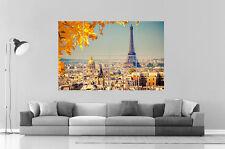 PARIS TOUR EIFFEL CITY VILLE  Wall Art Poster Grand format A0 Large Print