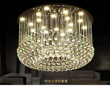 LUXURY Lobby LED round crystal ceiling lamp living room chandelier lighting