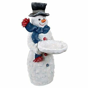 EU29480 - Flurry The Snowman Butler Sculptural Pedestal Table