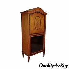 Antique Satinwood Musical Inlaid French Adams Sheet Music Cabinet Etagere Stand