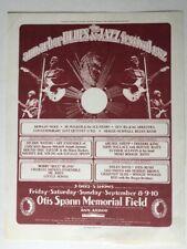 1972 Ann Arbor Blues & Jazz Festival Handbill