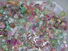 Watermelon Tourmaline crystal Nigeria 5-10mm gemmy 40 carat lot 3-8 piece