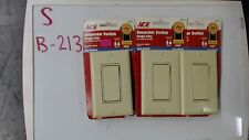 Ace Decorator Switch 31612 Single Pole Ivory Color Lot of 3
