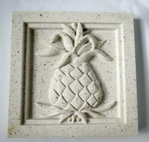 "Pineapple Concrete Wall Decor Grove Design 8"" x 8"" Outdoor Indoor Garden"