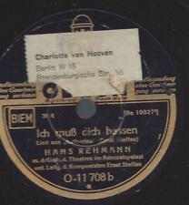 Hans Rehmann singt Ernst Steffan : Ich muss dich hassen