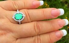 PLATINUM 3.02 CT GIA CERTIFIED NEON  PARAIBA TOURMALINE DIAMOND RING!