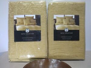 2-Pack Hotel Collection Woven Jacquard Standard Pillow Sham Brand New