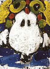 """Tom Everhart """"Ace Face"""" Hand Signed and Numbered Lithograph Publisher COA"""