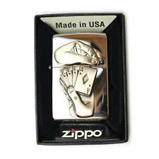 Accendino lighter briquet ZIPPO 28837 PLACCA POKER CARTE   antivento benzina usa