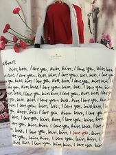 KATE SPADE NWT HEART IT PENELOPE LARGE TOTE BAG I LOVE YOU KISS VALENTINES