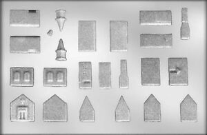 3D Church, Single Story & 2 Story House Chocolate Candy Mold from CK #4407