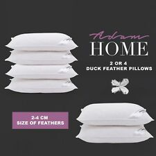 Duck Feather & Down Pillows Pillow Extra Filled Hotel Quality PACK of 1, 2 & 4