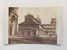 Vintage Carte De Visite CDV Photo - Leaning Tower Pisa 1863