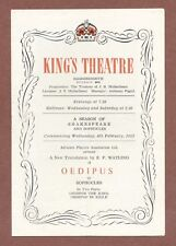 """King's Theatre Hammersmith 1952, """"Oedipus"""", Sophocles  D.Wolfit   Casson   JX104"""