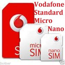 VODAFONE PAY AS YOU GO MICRO SIZE SIM CARD FOR SAMSUNG GALAXY S6 S6 EDGE S5 & S4