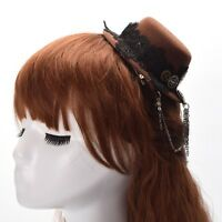 1pc Vintage Steampunk Gear Tassels Mini Hat Hair Clip Punk Gothic Headwear