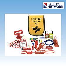 Lockout Tagout Kit Electrician Pouch Loto Hasp Circuit Breaker Padlock UL322
