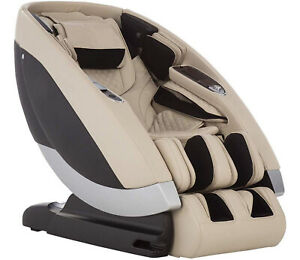 Cream Human Touch Super Novo Zero Gravity 4D S & L Track Massage Chair Recliner