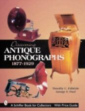 Discovering Antique Phonographs with 414 color photos, New Book! Free Shipping!