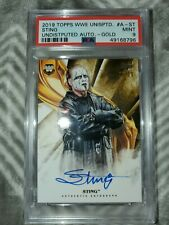 2019 Wwe Undisputed Sting Auto Gold PSA 9 Mint!!! AEW!!!
