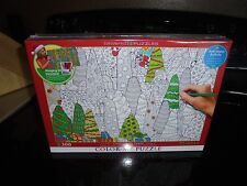 """Eurographics Color-Me-Puzzle """"Christmas Trees"""" 300 Pieces New/Sealed"""
