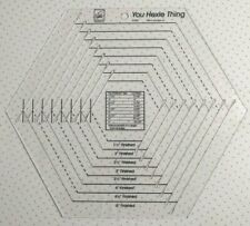 June Tailor You Hexie Thing 2013 Clear Acrylic Hexagon Quilting Ruler