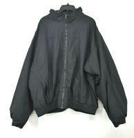 Columbia Mens Black Mock Neck Long Sleeve Full Zip Windbreaker Ribbed Jacket XXL