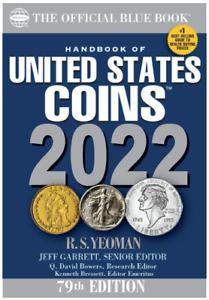 2022 Blue Book, Handbook of U.S. Coins Softcover, 79th Ed.
