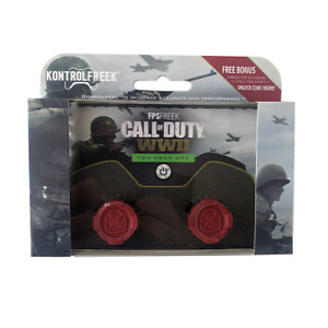 Kontrol Freek Xbox One Controller High Performance Grip COD WWII Red FPS 2pc New
