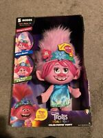 NEW!! Trolls World Tour Color Poppin' Poppy Plush Fashion Doll - Sings - Lights